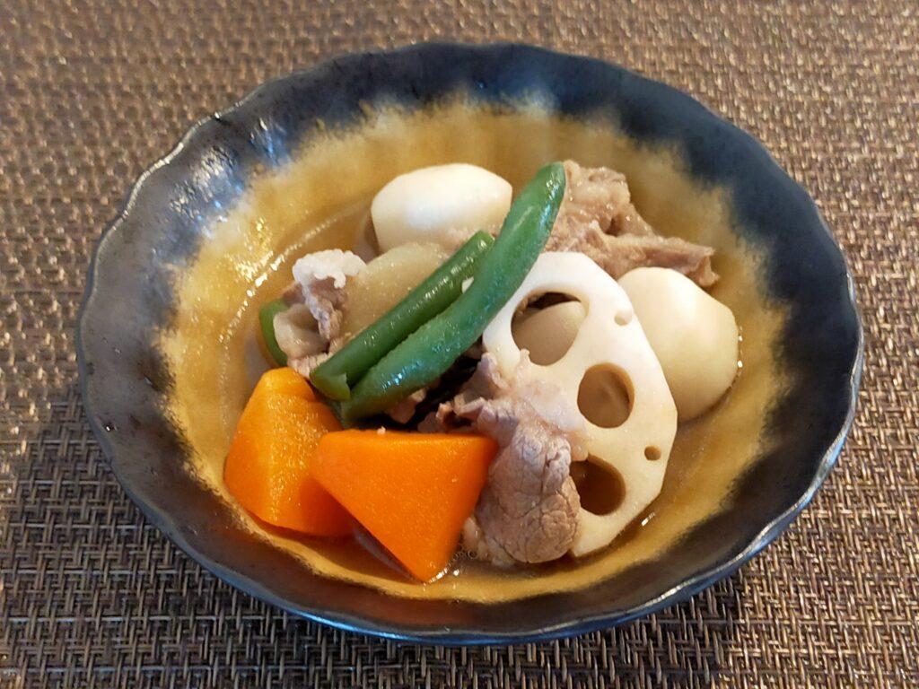 冷凍和風野菜ミックスの煮物